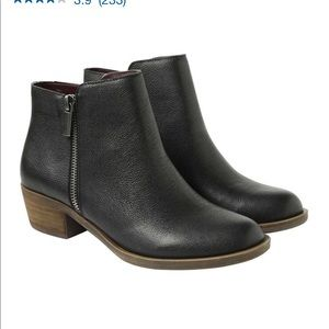 NWT Kensie leather ankle boots